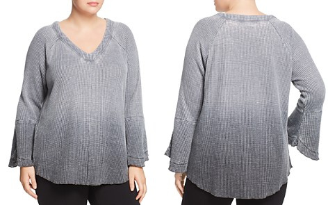 Seven7 Jeans Plus V-Neck Waffle-Knit Top - Bloomingdale's_2