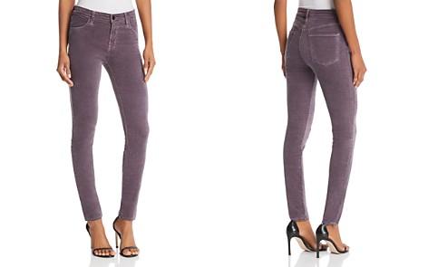 J Brand Maria Skinny Velvet Jeans in Dark Whistle - Bloomingdale's_2
