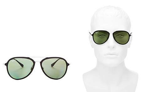 Ray-Ban Men's Brow Bar Aviator Sunglasses, 57mm - Bloomingdale's_2