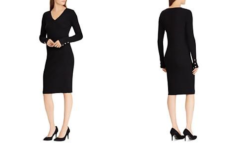 Lauren Ralph Lauren V-Neck Sheath Dress - Bloomingdale's_2