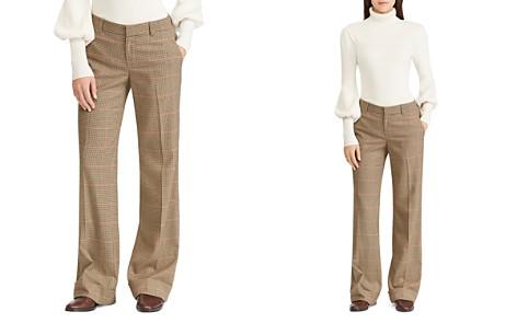 Lauren Ralph Lauren Wide-Leg Checked Pants - 100% Exclusive - Bloomingdale's_2