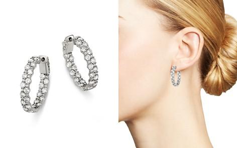 Bloomingdale's Diamond Hoop Earrings in 14K White Gold, 4.0 ct. t.w. - 100% Exclusive_2