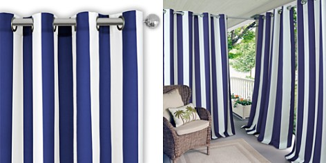 """Elrene Home Fashions Aiden Stripe Indoor/Outdoor Curtain Panel, 50"""" x 108"""" - Bloomingdale's_2"""