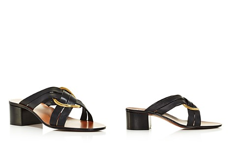 Chloé Women's Rony Leather Mid-Heel Sandals - Bloomingdale's_2