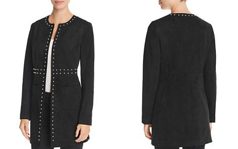 KARL LAGERFELD Paris Embellished Faux-Suede Jacket - Bloomingdale's_2