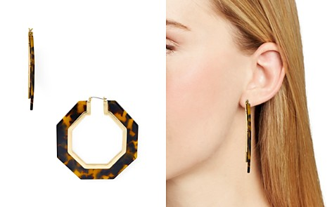 Rebecca Minkoff Octagonal Resin Tortoise Drop Earrings - Bloomingdale's_2