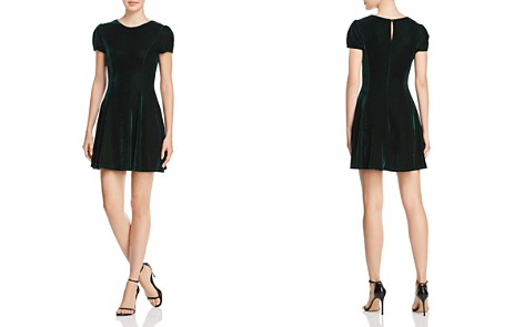 AQUA Velvet Dress - 100% Exclusive - Bloomingdale's_2