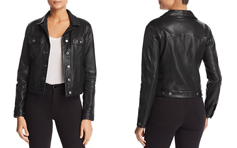 Majestic Filatures Leather Trucker Jacket - Bloomingdale's_2