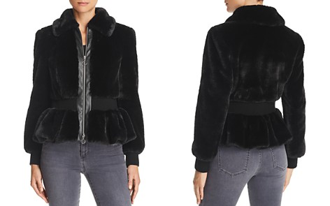 Rebecca Taylor Faux Fur Peplum Jacket - Bloomingdale's_2