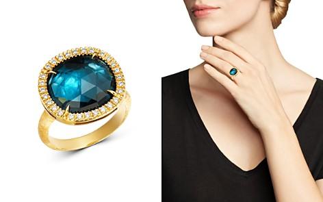 Marco Bicego 18K Yellow Gold Jaipur Sunset London Blue Topaz & Diamond Ring - Bloomingdale's_2