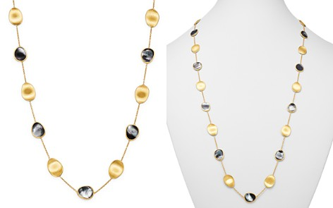 """Marco Bicego 18K Yellow Gold Lunaria Black Mother of Pearl Long Station Necklace Pearl, 36"""" - Bloomingdale's_2"""