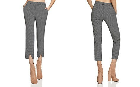 BCBGeneration Windowpane Cropped Pants - Bloomingdale's_2