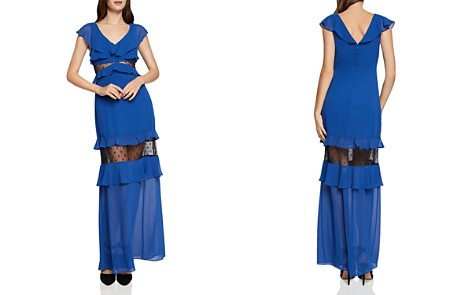 BCBGeneration Lace-Inset Tiered Ruffled Maxi Dress - Bloomingdale's_2