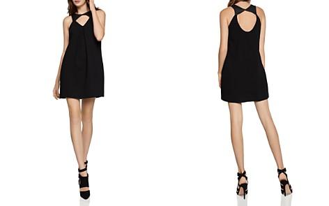 BCBGeneration Faux Leather-Trim Cutout Dress - Bloomingdale's_2