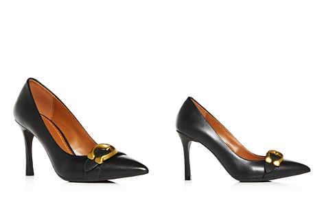 COACH Women's Varick Leather Pointed Toe Pumps - Bloomingdale's_2