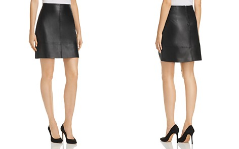 Elie Tahari Lexie Leather Mini Skirt - Bloomingdale's_2