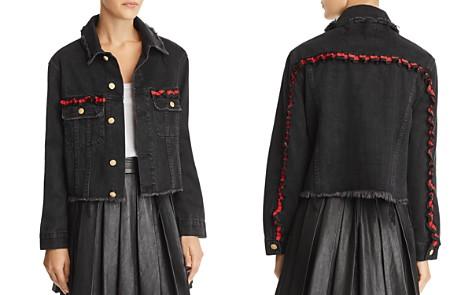 Sunset + Spring Ribbon-Trim Denim Jacket - 100% Exclusive - Bloomingdale's_2
