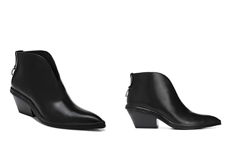 Via Spiga Women's Fianna Pointed Toe Leather Ankle Booties - Bloomingdale's_2
