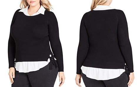 City Chic Plus Layered-Look Sweater - Bloomingdale's_2