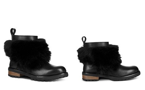 UGG® Women's Otelia Round Toe Leather & Sheepskin Booties - Bloomingdale's_2