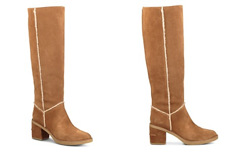 UGG® Women's Kasen Round Toe Suede & Sheepskin Tall Boots - Bloomingdale's_2