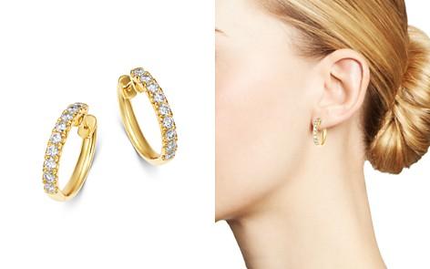 Bloomingdale's Diamond Hoop Earrings in 14K Yellow Gold, 1.0 ct. t.w. - 100% Exclusive _2