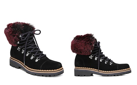 Sam Edelman Women's Bowen Fur & Suede Hiking Boots - Bloomingdale's_2
