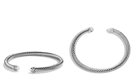 David Yurman Cable Classics Bracelet with Pearls & Diamonds - Bloomingdale's_2