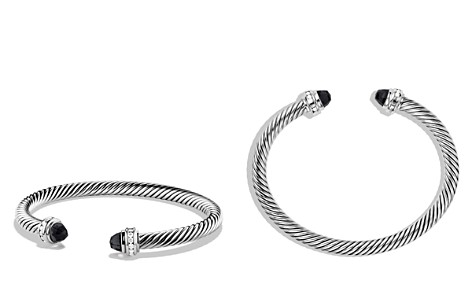 David Yurman Cable Classics Bracelet with Black Onyx & Diamonds - Bloomingdale's_2