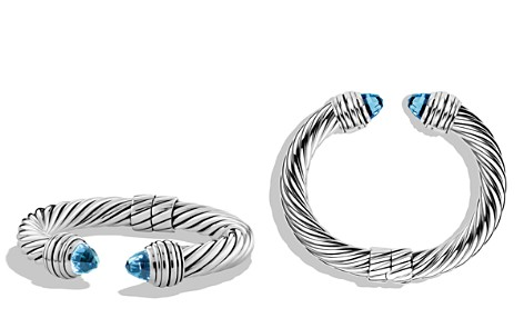 David Yurman Cable Classics Bracelet with Blue Topaz - Bloomingdale's_2