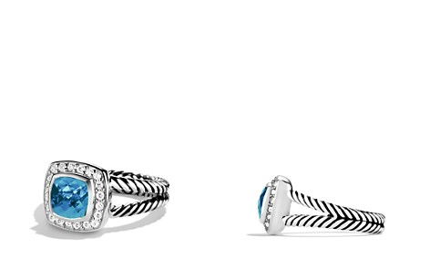 David Yurman Petite Albion Ring with Blue Topaz & Diamonds - Bloomingdale's_2