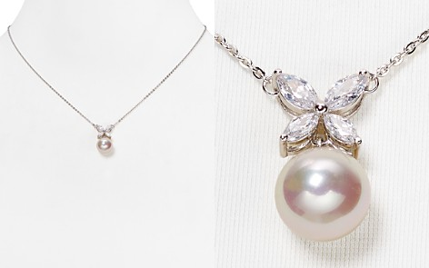 """Majorica Simulated Pearl Butterfly Pendant Necklace, 16"""" - Bloomingdale's_2"""
