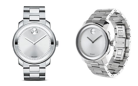 Movado BOLD Stainless Steel and Silver Tone Dial Watch, 42.5mm - Bloomingdale's_2