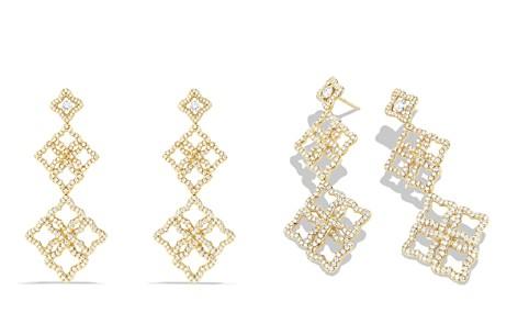 David Yurman Venetian Quatrefoil Cluster Earrings with Diamonds in Gold - Bloomingdale's_2
