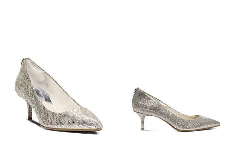 MICHAEL Michael Kors Women's MK Flex Pointed Toe Kitten Heel Pumps - Bloomingdale's_2