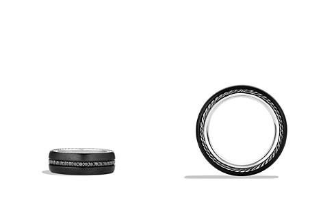 David Yurman Streamline Wide Band Ring with Black Diamonds and Black Titanium - Bloomingdale's_2