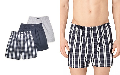 Calvin Klein Cotton Classics Woven Boxers, Pack of 3 - Bloomingdale's_2