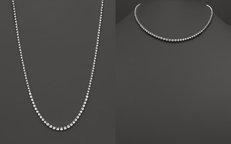 Diamond Graduated Tennis Necklace in 14K White Gold, 4.0 ct. t.w. - 100% Exclusive - Bloomingdale's_2