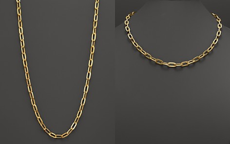 "Roberto Coin 18K Yellow Gold Oval Necklace, 23"" - Bloomingdale's_2"