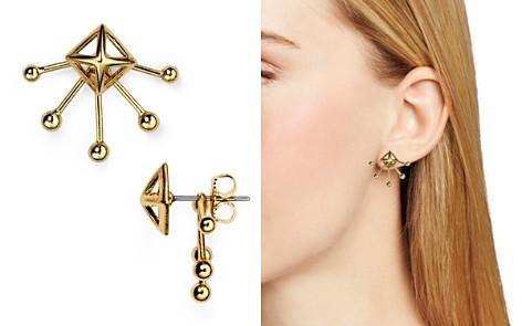 Rebecca Minkoff Pyramid Fan Stud and Jacket Earrings - Bloomingdale's_2