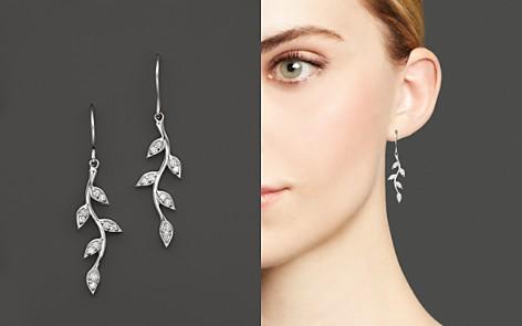 KC Designs Diamond Vine Drop Earrings in 14K White Gold - Bloomingdale's_2