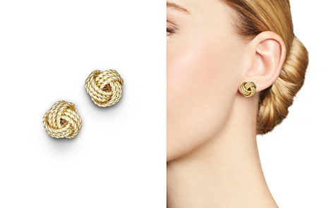 14K Yellow Gold Twisted Love Knot Earrings - 100% Exclusive - Bloomingdale's_2