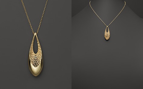 "Roberto Coin 18K Yellow Gold Teardrop Golden Gate Necklace, 19"" - Bloomingdale's_2"