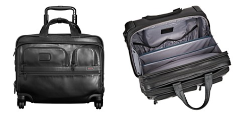 Tumi Alpha 2 Deluxe 4-Wheel Leather Brief with Laptop Case - Bloomingdale's_2