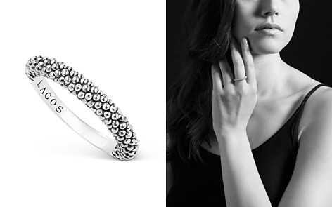 LAGOS Sterling Silver Caviar Beaded Stacking Ring - Bloomingdale's_2