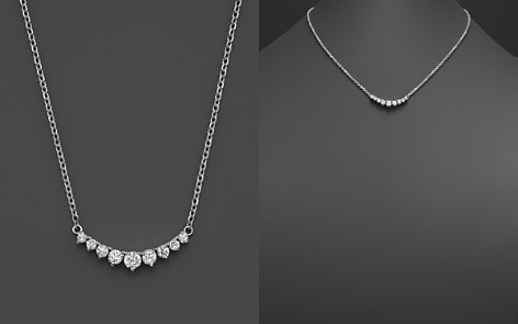 Diamond 9 Stone Necklace in 14K White Gold, 1.0 ct. t.w. - Bloomingdale's_2