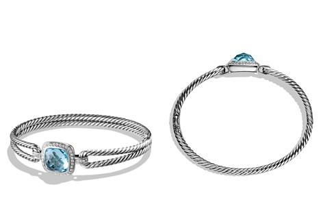 David Yurman Albion Bracelet with Diamonds and Blue Topaz - Bloomingdale's_2
