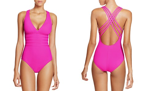 La Blanca Multistrap Cross Back Maillot One Piece Swimsuit - Bloomingdale's_2