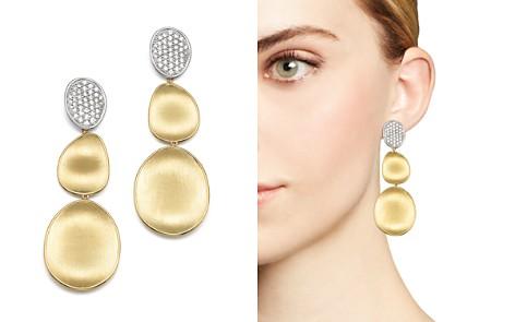 Marco Bicego Diamond Lunaria Three Drop Large Earrings in 18K Yellow Gold - Bloomingdale's_2
