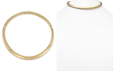 Roberto Coin 18K Yellow Gold Diamond Link Princess Collar Necklace - Bloomingdale's_2